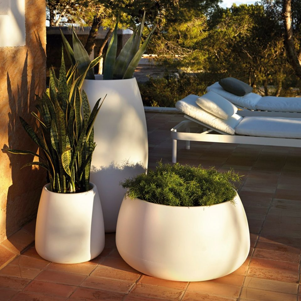maceteros de diseño para terrazas
