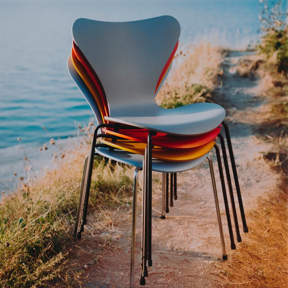 sillas diseño de arne jacobsen