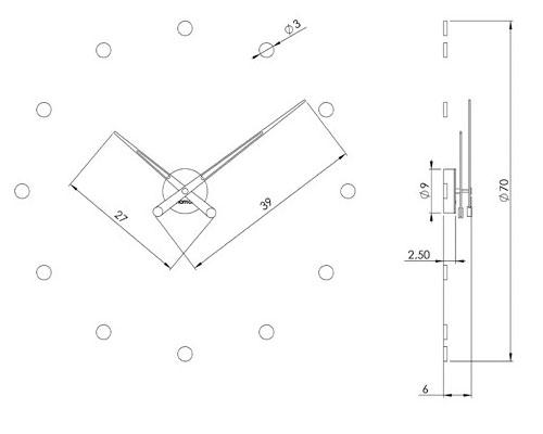Reloj moderno de pared Nomon modelo rodon para comprar online