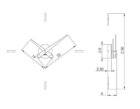 Reloj de nomon puntos suspensivos. Tienda online relojes diseño