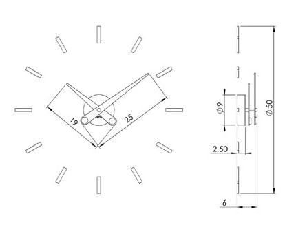 Tienda relojes pared modernos de Nomon. Comprar reloj puntos suspensivos