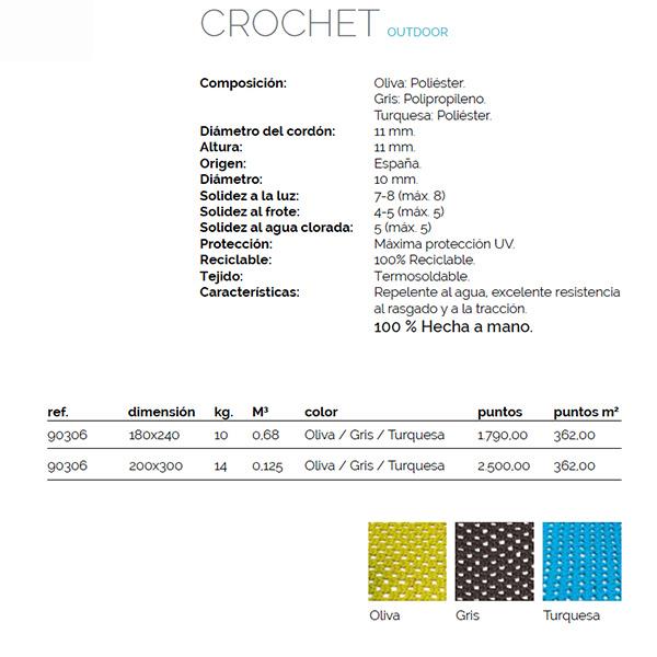 Alfombra outdoor Crochet. Comprar alfombra exterior
