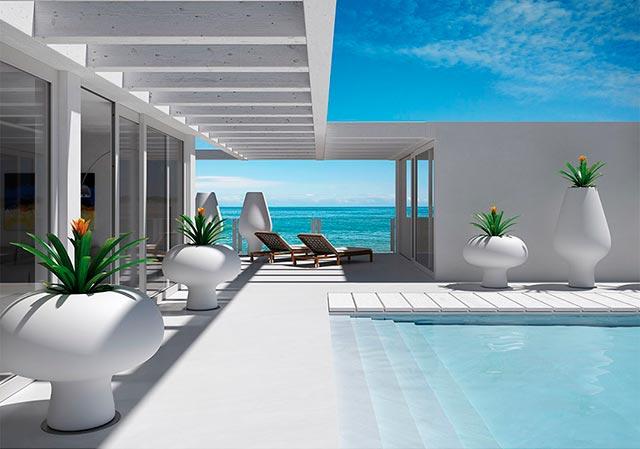 Maceteros modernos de exterior complementos del hogar - Maceteros de interior ...