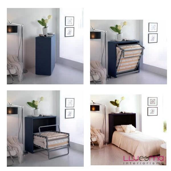 Mueble cama y puf cama plegable - Lluesma interiorismo