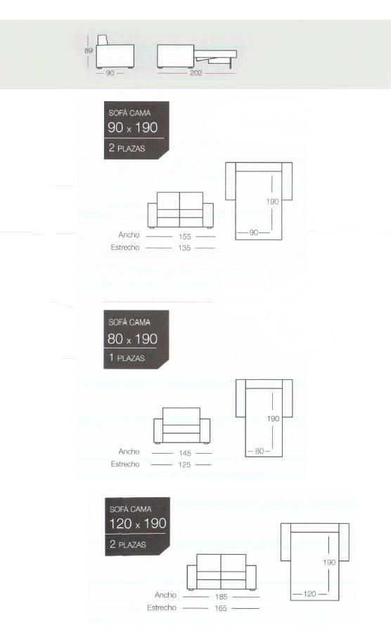 Sofa cama modelo basic de la marca goher en oferta de sofas cama