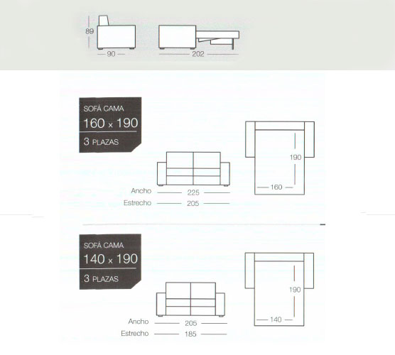 oferta sofas cama gama alta y facil apertura de sofas y poufs cama.
