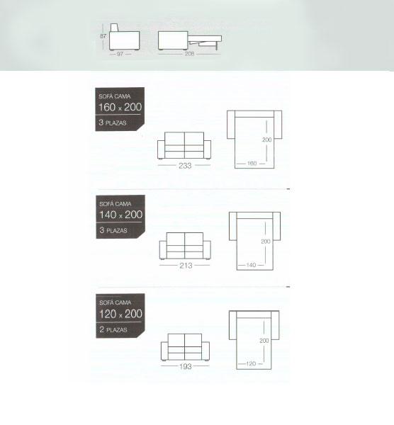 Kubic es un sofa cama de la marca goher. Oferta sofas cama