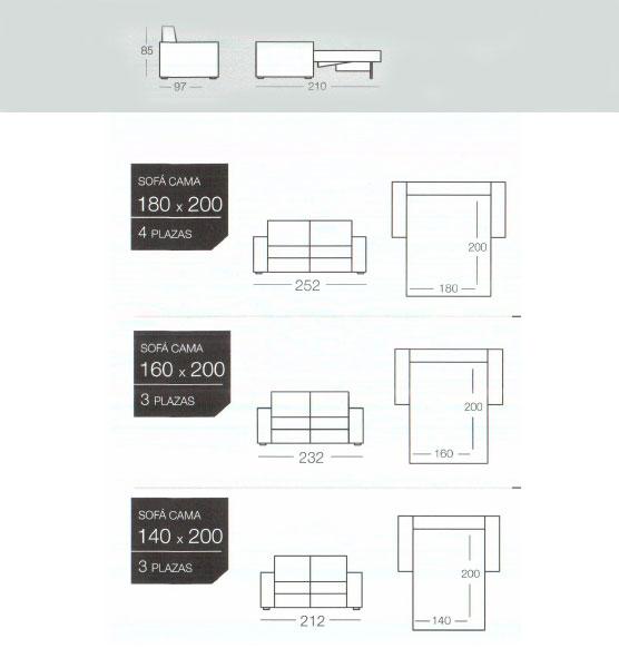 Sofas cama de gama alta de goher