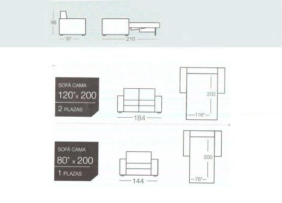 Sofa cama individual modelo milano de goher sofas cama en oferta