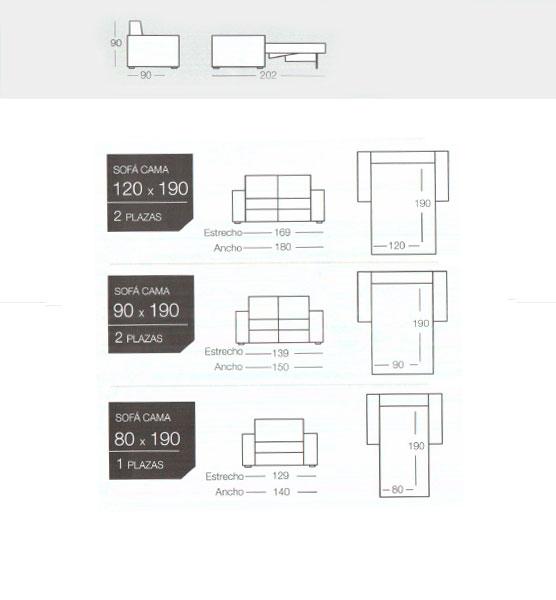 Sofas cama modelo novo de goher para comprar online
