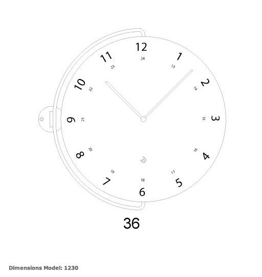 Reloj 1230 de progetti para comprar en tienda relojes pared modernos
