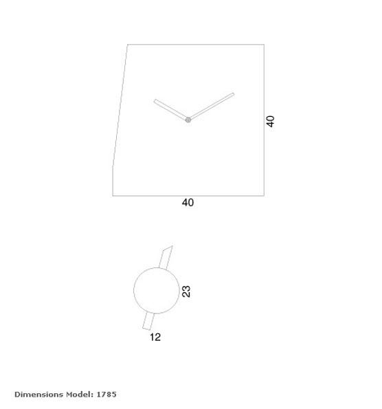 Reloj deep time de la marca progetti para comprar online. tienda relojes pared modernos