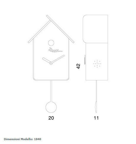 Reloj de cuco de progetti modelo softy