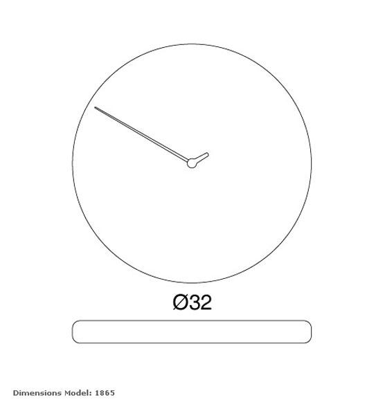 Reloj moderno de pared modelo less de nuestra tienda online de relojes de pared