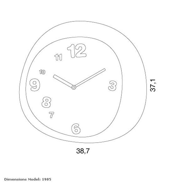 Reloj madera de pared de progetti para decorar cocinas o reloj empresa