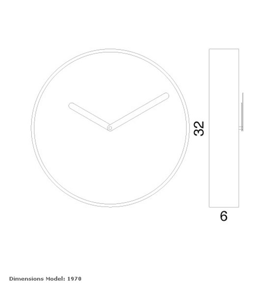 Reloj decorativo de pared de la marca progetti modelo be