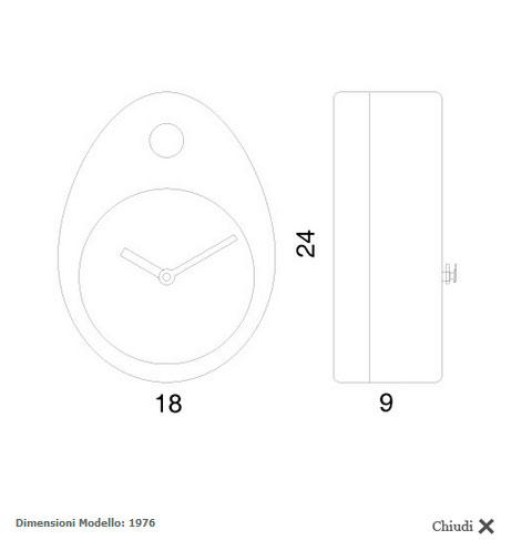 Catalogo relojes de pared de cuco modernos de progetti.