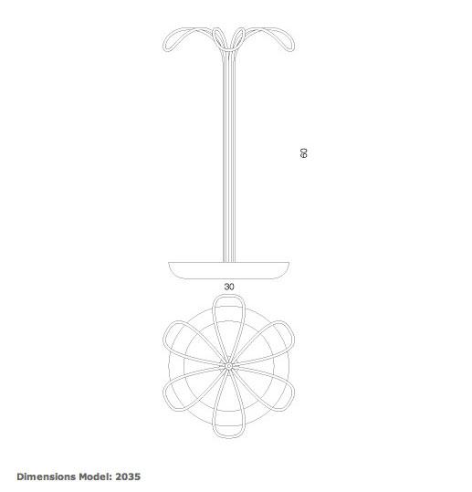 Paragüero moderno de Progetti. Catálogo paragueros