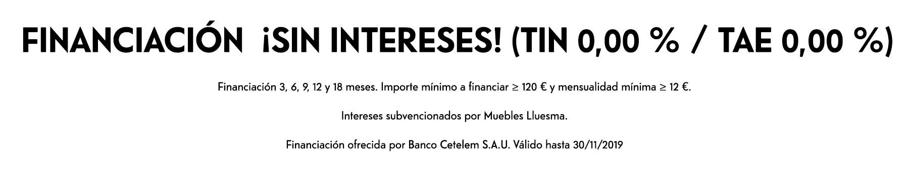 Financiación ofrecida por Banco Cetelem