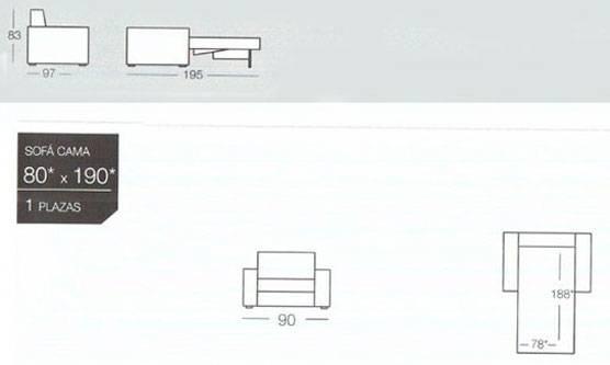 Dimensiones sofas de piel online bed mattress sale for Poltrona cama individual