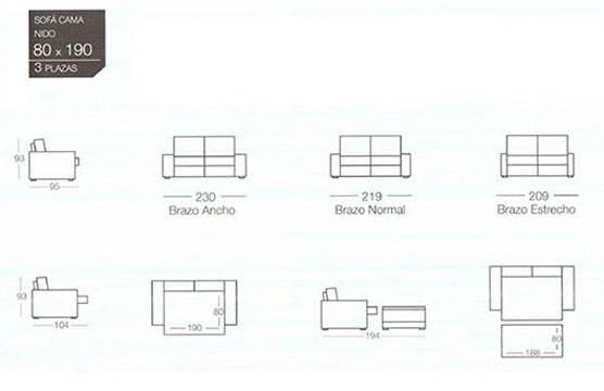 catalogo sofas cama goher para comprar online